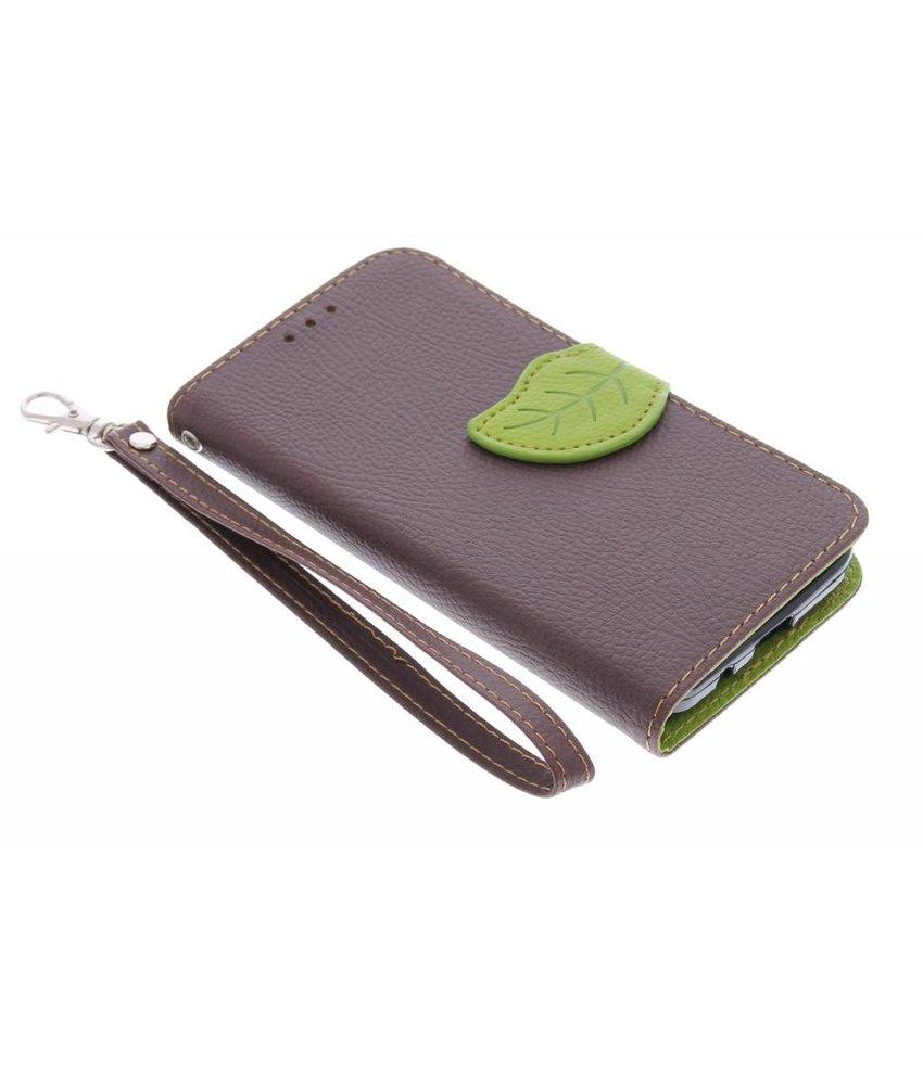 Bruin blad design TPU booktype Samsung Galaxy Core Prime