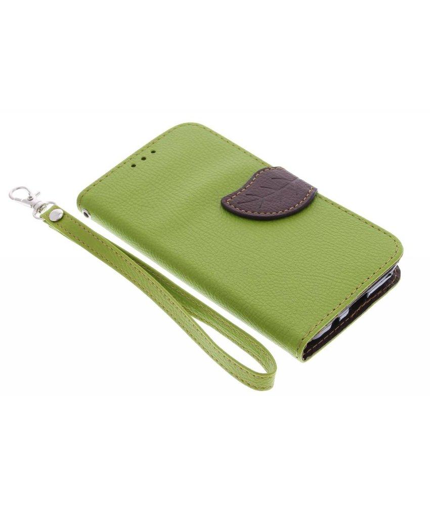 Groen blad design TPU booktype Samsung Galaxy Core Prime