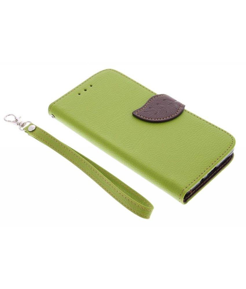 Groen blad design TPU booktype Samsung Galaxy Grand Prime