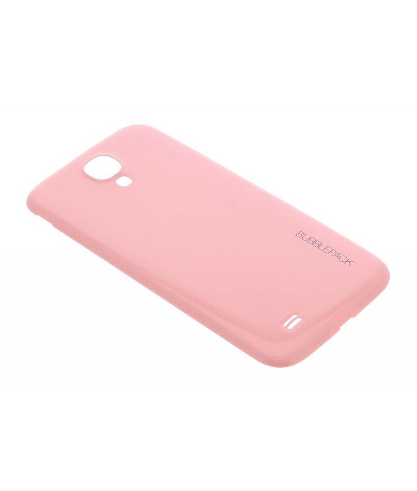 Roze bubblepack batterij cover Samsung Galaxy S4