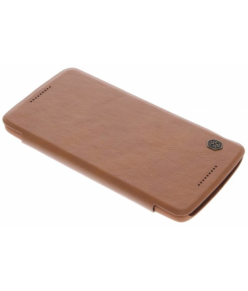 Nillkin Qin Leather slim booktype hoes Motorola Moto X Play - Bruin