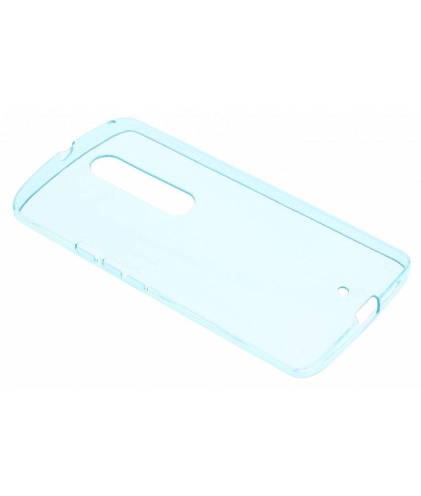 Turquoise transparante gel case Motorola Moto X Play