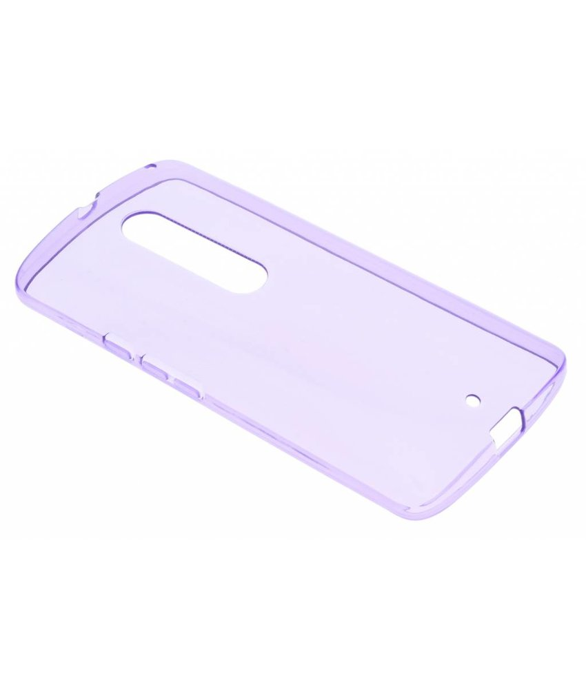Paars transparante gel case Motorola Moto X Play