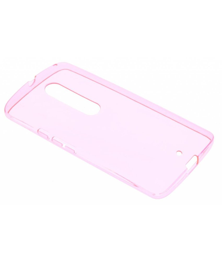 Roze transparante gel case Motorola Moto X Play