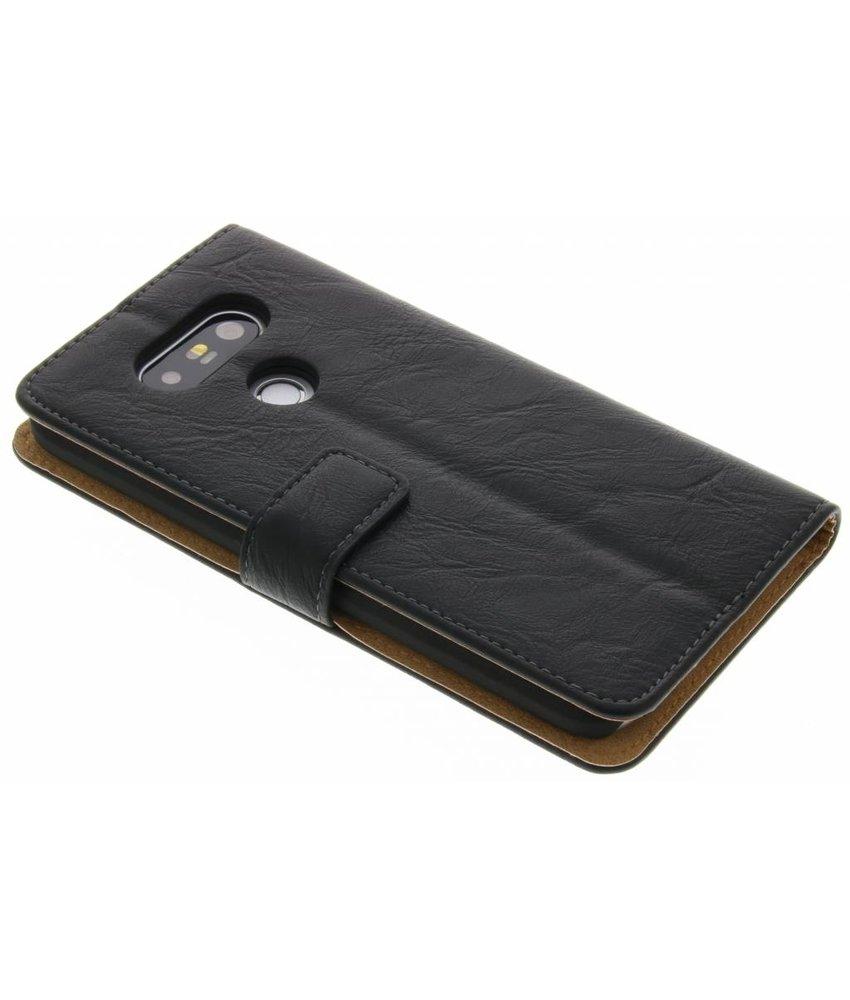 Zwart kreukelleder booktype hoes LG G5 (SE)