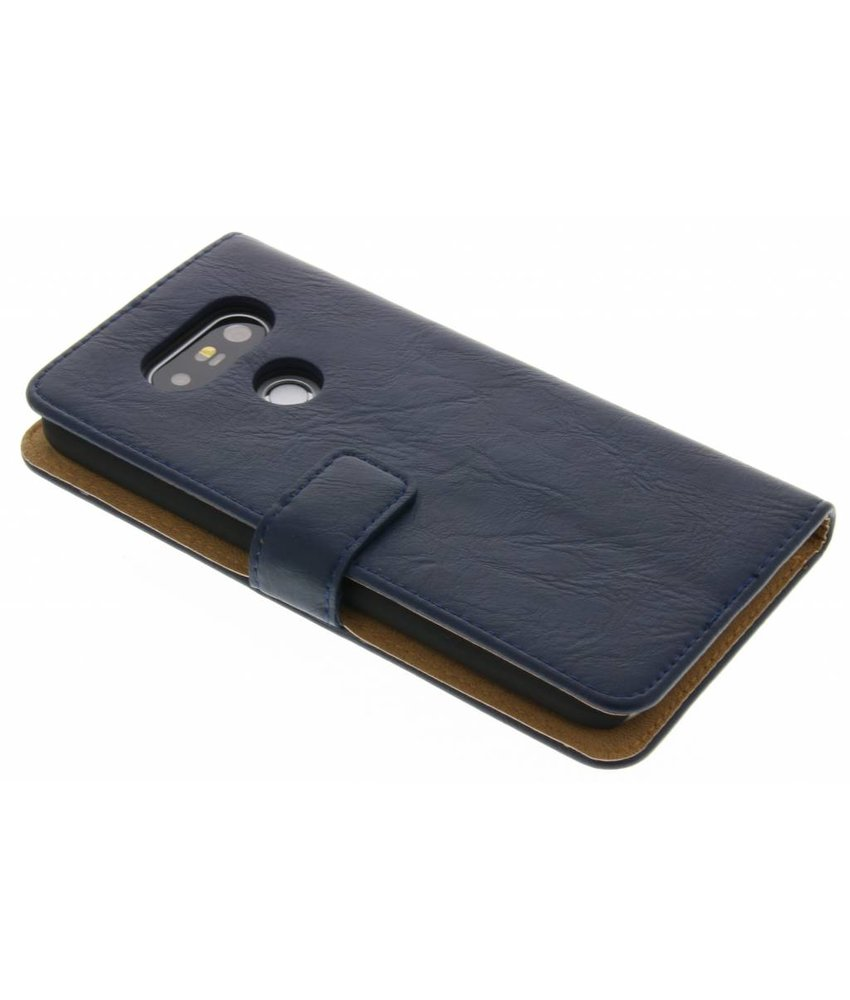 Donkerblauw kreukelleder booktype hoes LG G5 (SE)