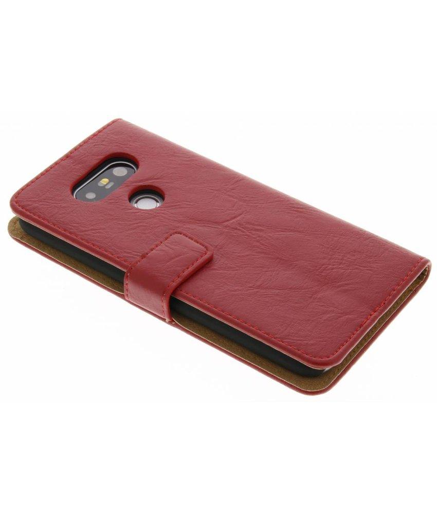 Rood kreukelleder booktype hoes LG G5 (SE)