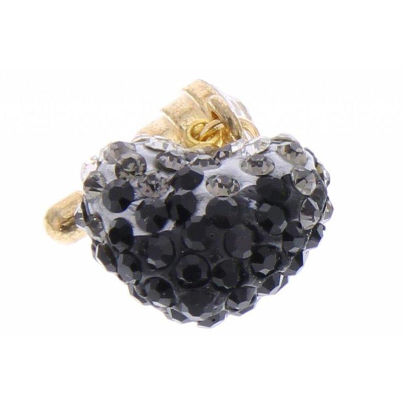 Zwart 3D hartjes design anti-stof dust plug