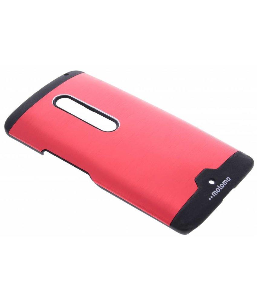 Brushed aluminium hardcase hoesje Motorola Moto X Play