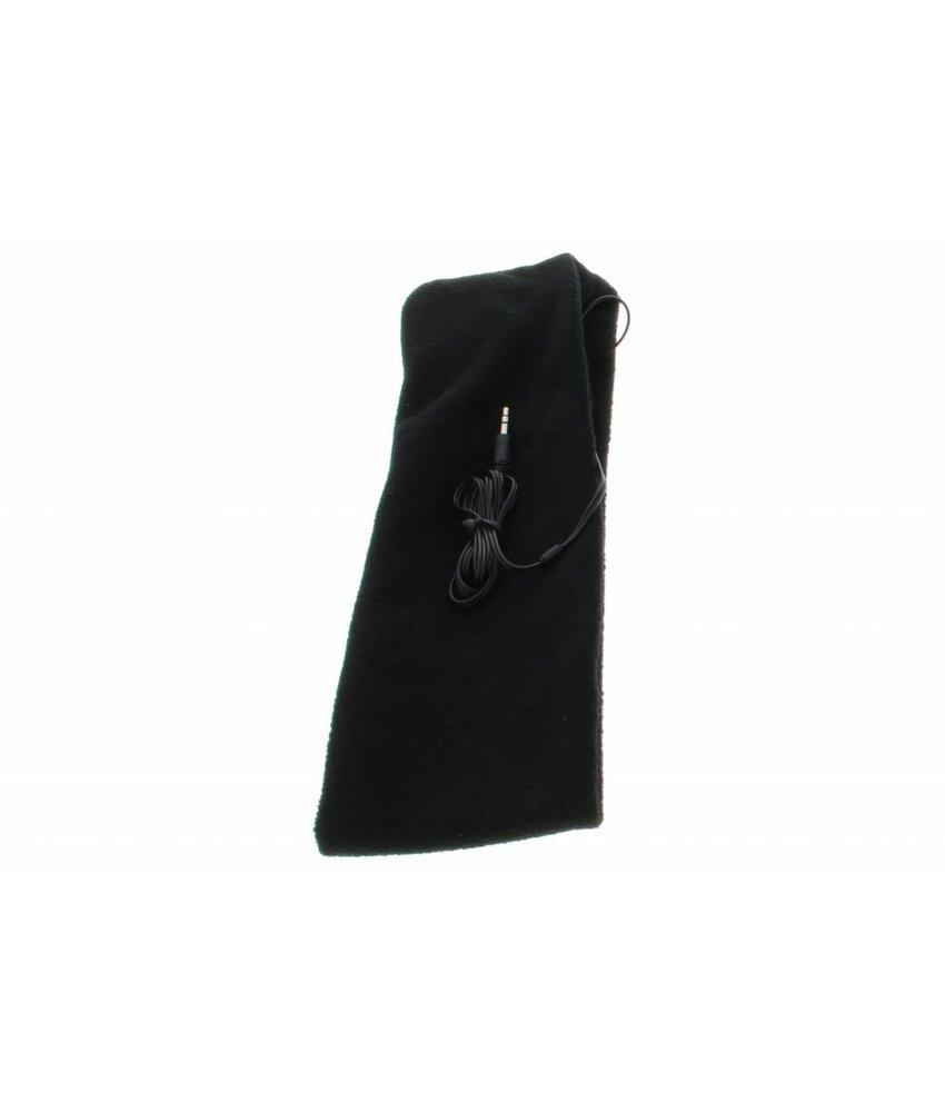Zwart hoofdband met koptelefoon