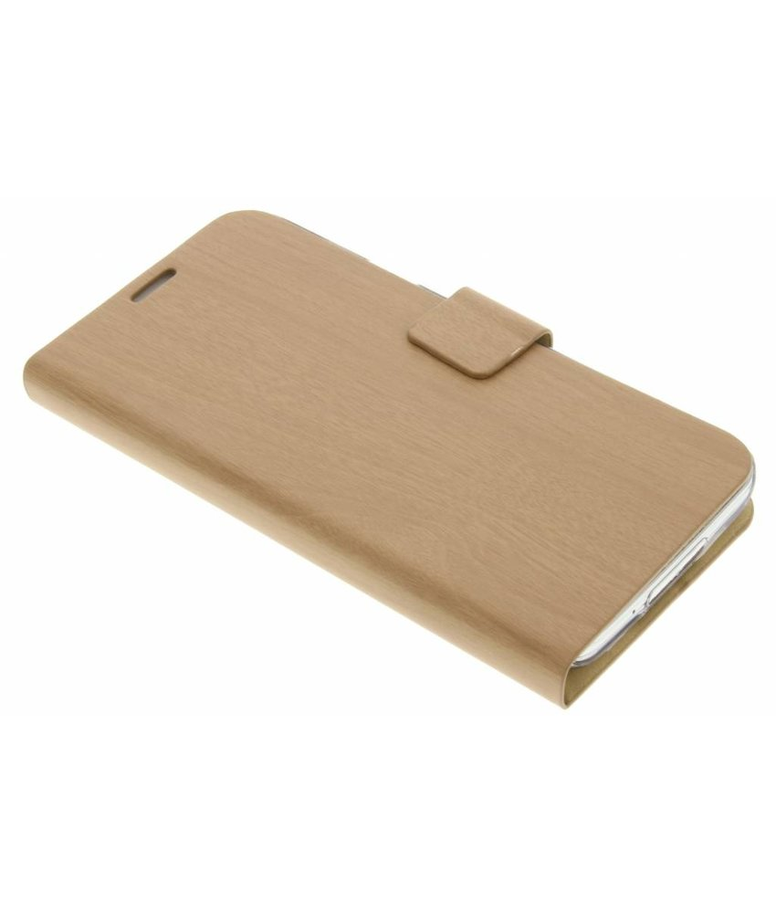 Hout design booktype hoes Samsung Galaxy S5 (Plus) / Neo