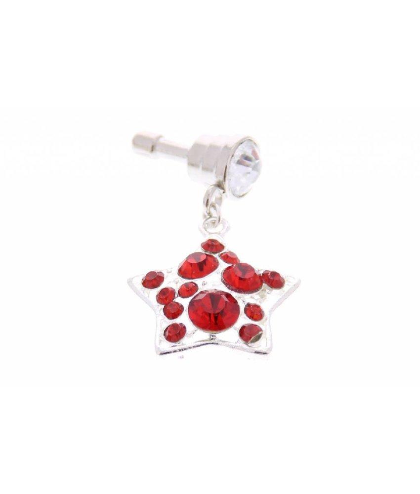 Rood sterren design anti-stof dust plug