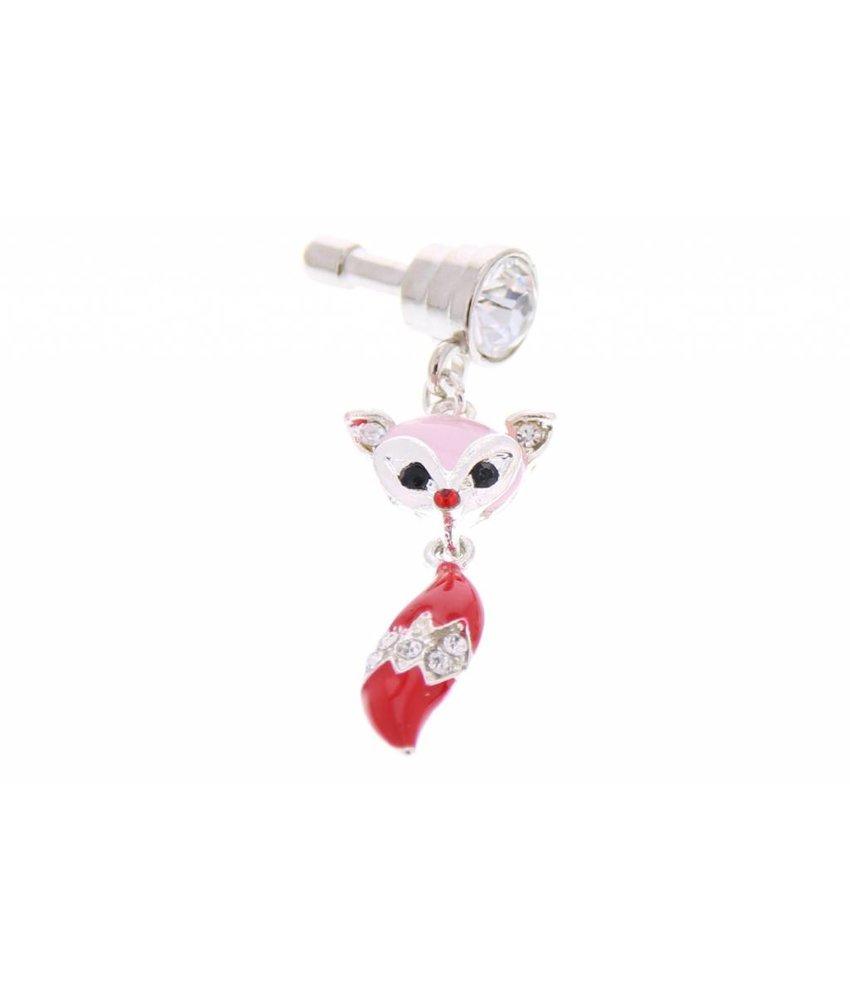 Rood vosjes design anti-stof dust plug