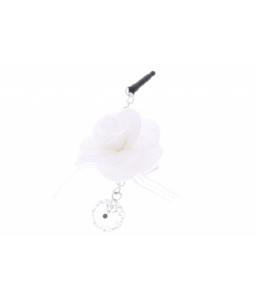 Wit bloemen anti-stof dust plugs