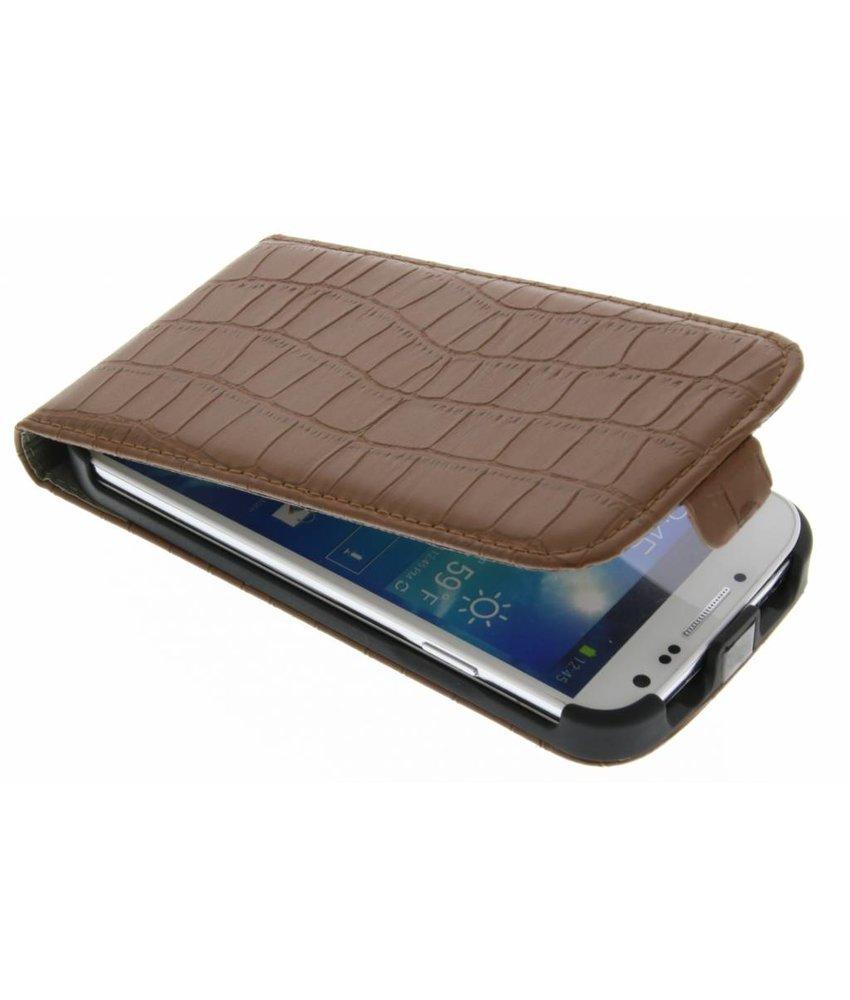 Krokodil flipcase Samsung Galaxy S4
