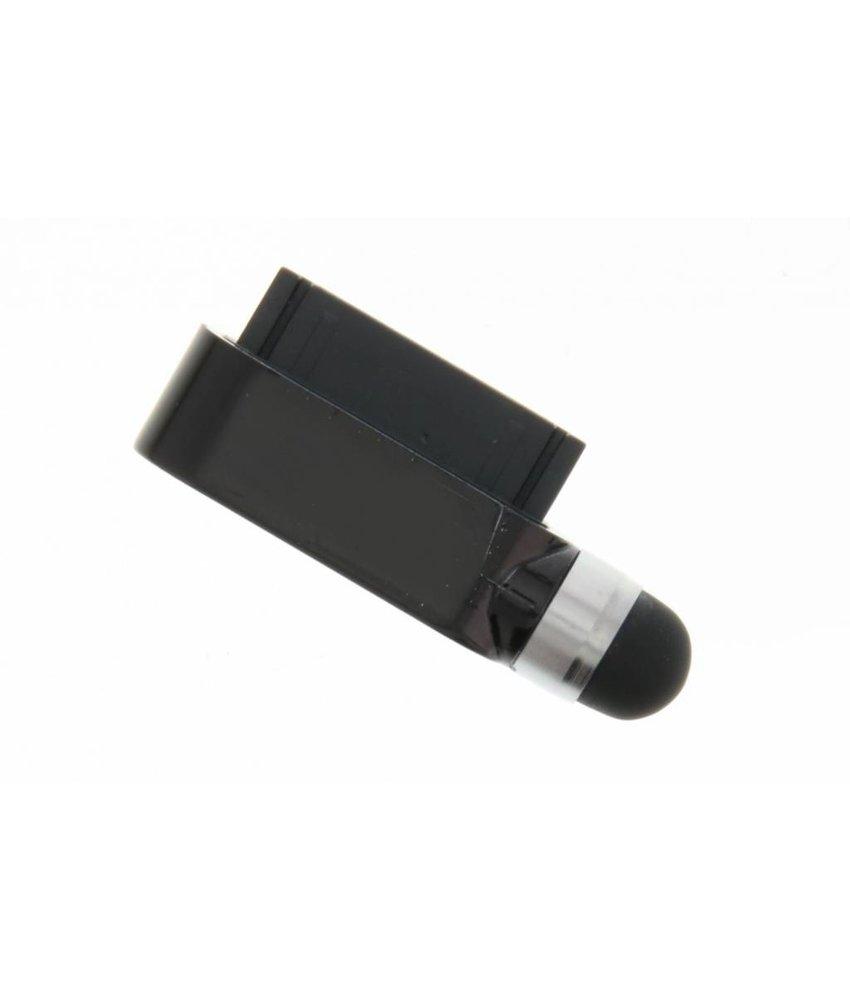 Compacte stylus en anti stof plug in één - Zwart