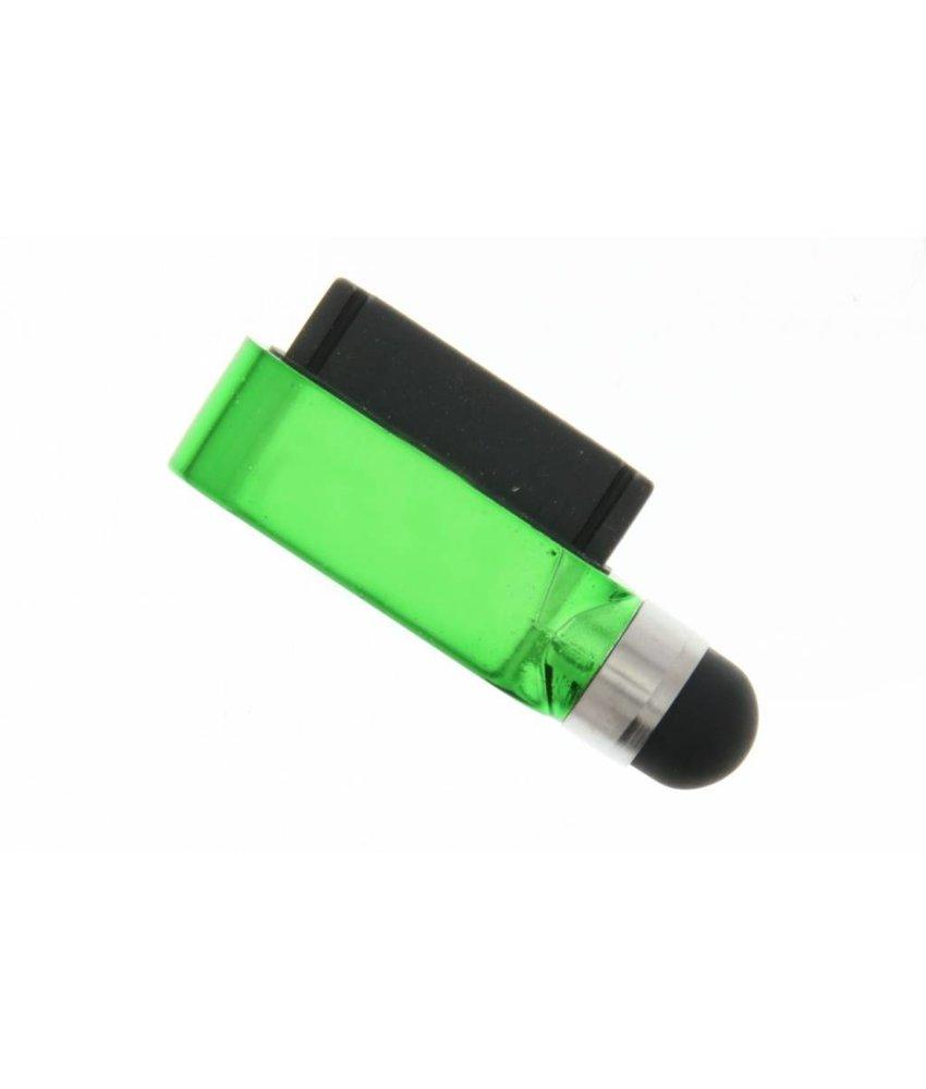 Compacte stylus en anti stof plug in één - Groen