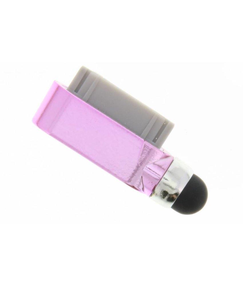 Compacte stylus en anti stof plug in één - Roze