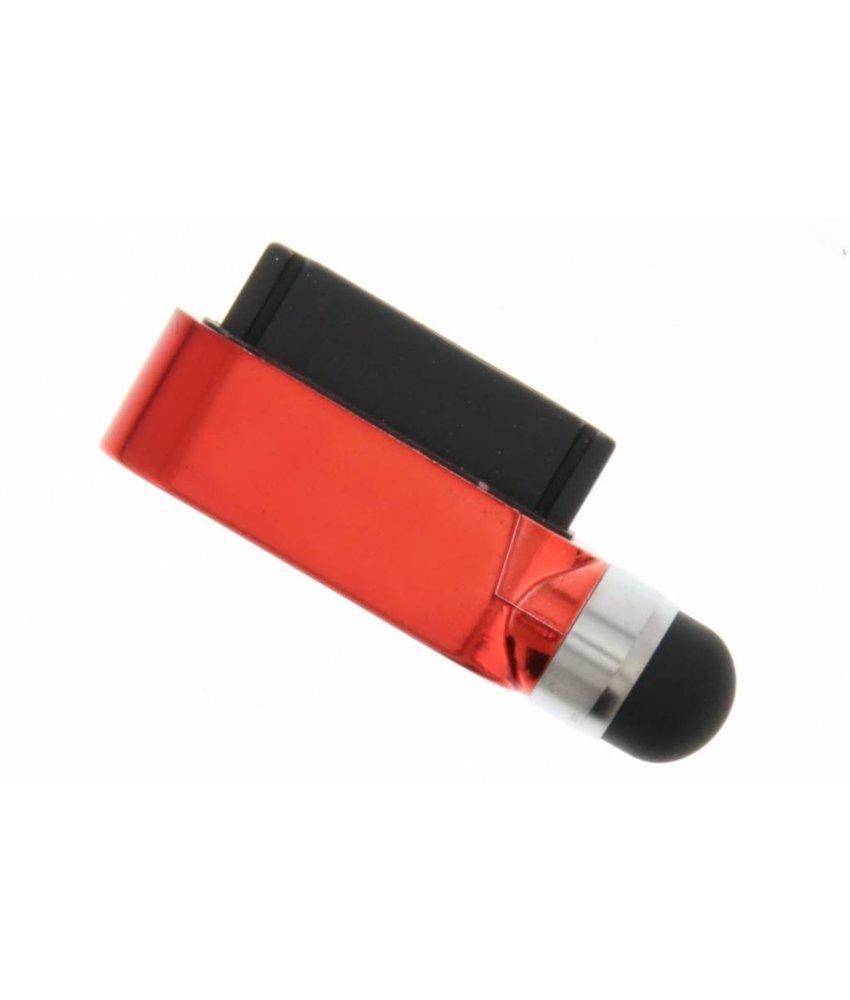 Compacte stylus en anti stof plug in één - Rood