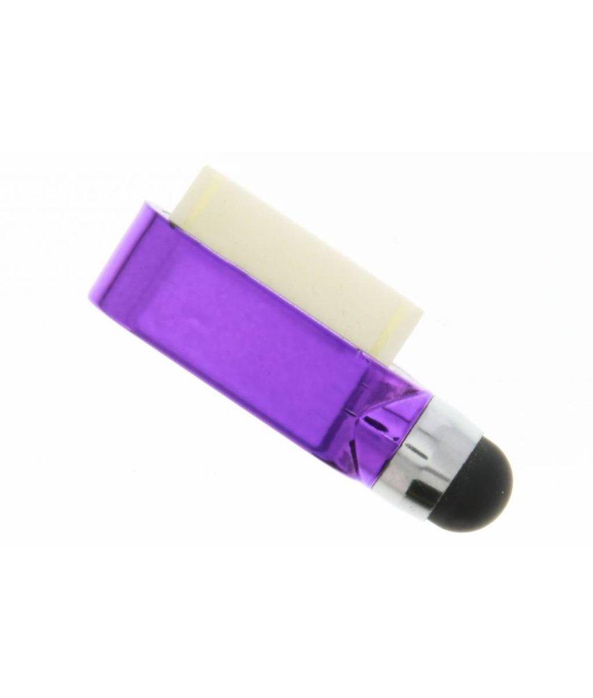 Compacte stylus en anti stof plug in één - Paars