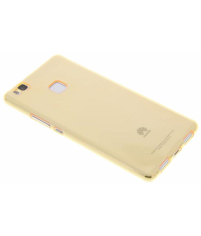 Oranje ultra thin transparant TPU hoesje Huawei P9 Lite