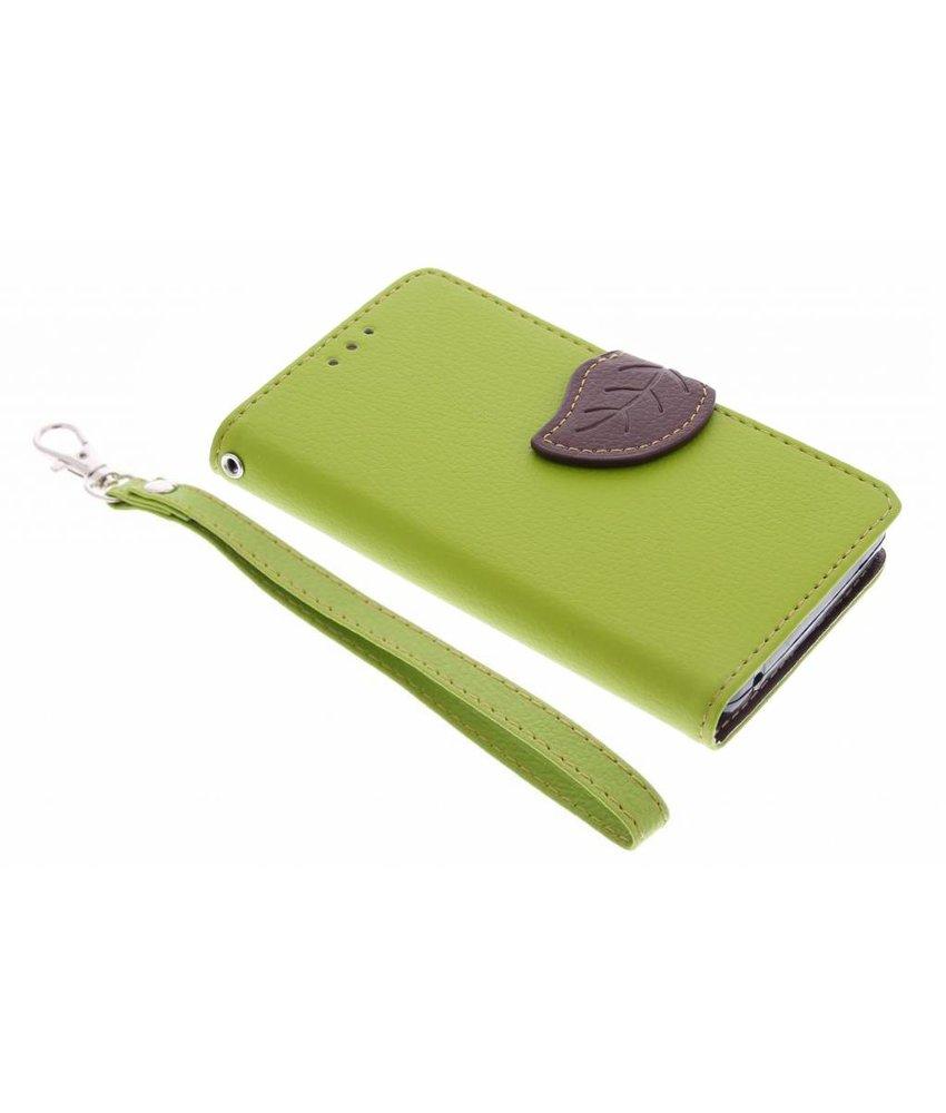 Groen blad design TPU booktype hoes Acer Ascend Z630