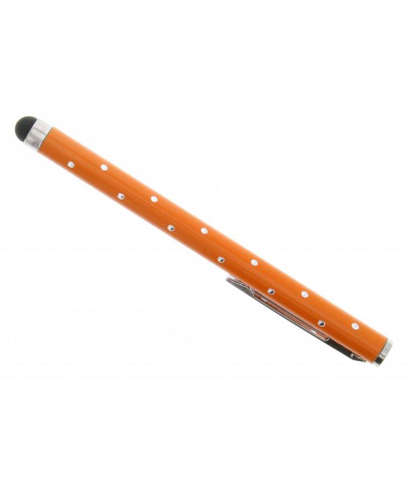 Touchscreen stylus met glitters - Oranje