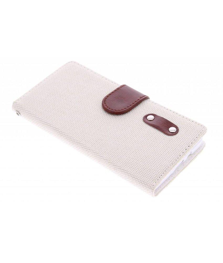 Linnen look TPU booktype Samsung Galaxy A5