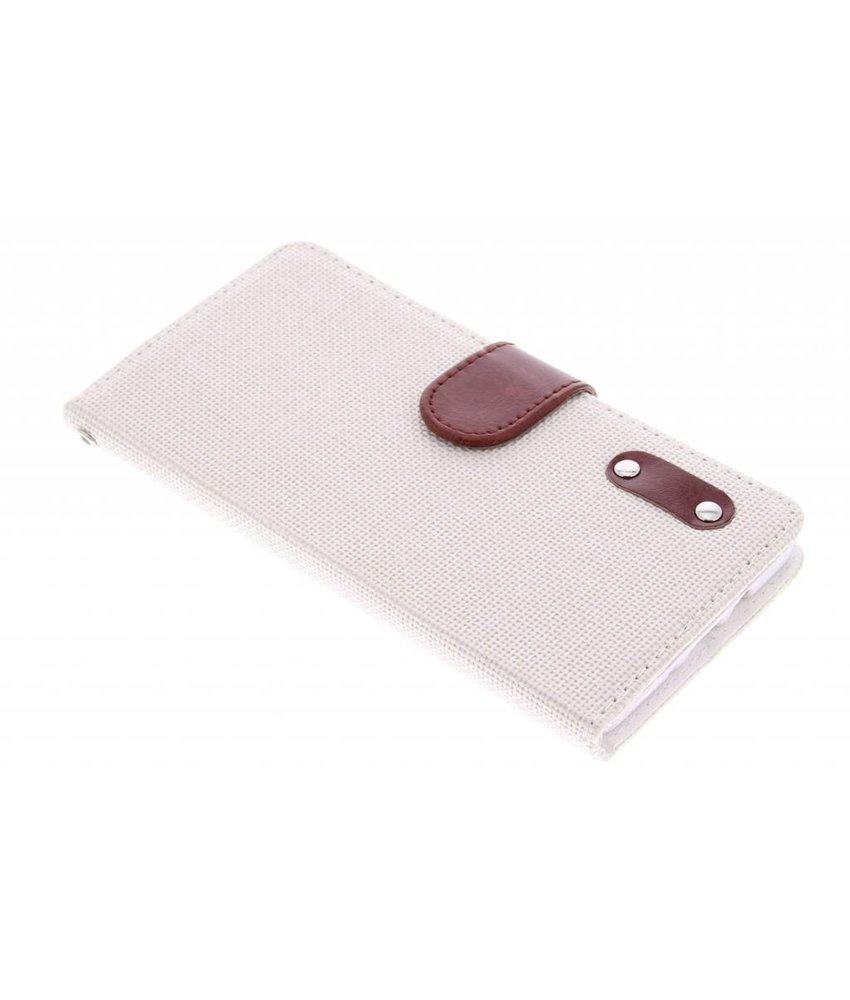 Linnen look TPU booktype Samsung Galaxy A7