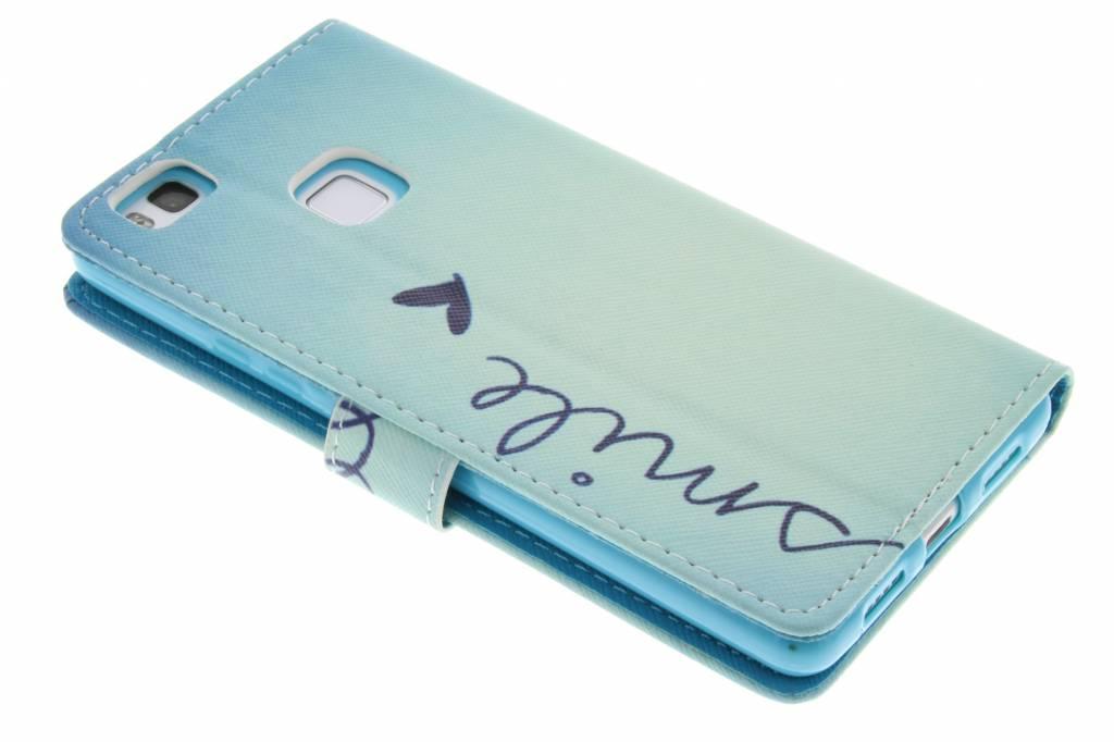 Sourire Conception Booktype Case Tpu Pour Huawei Lite P9 CZygyOa