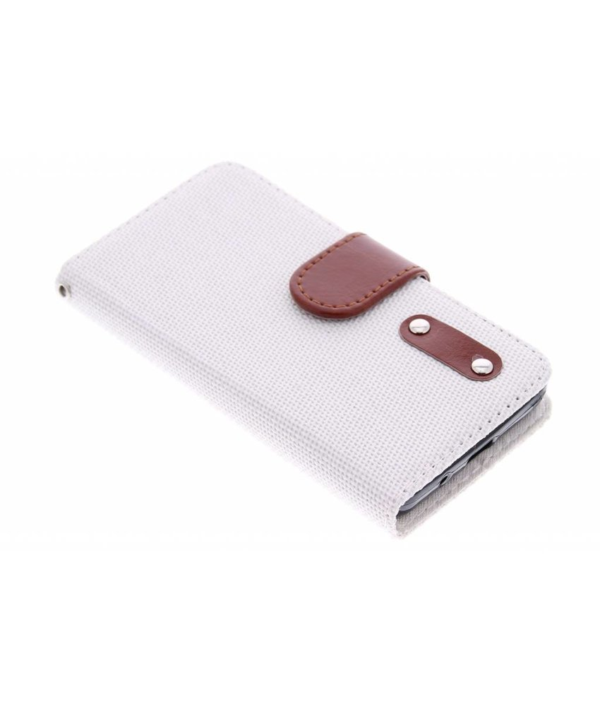 Linnen look TPU booktype Samsung Galaxy Core 2