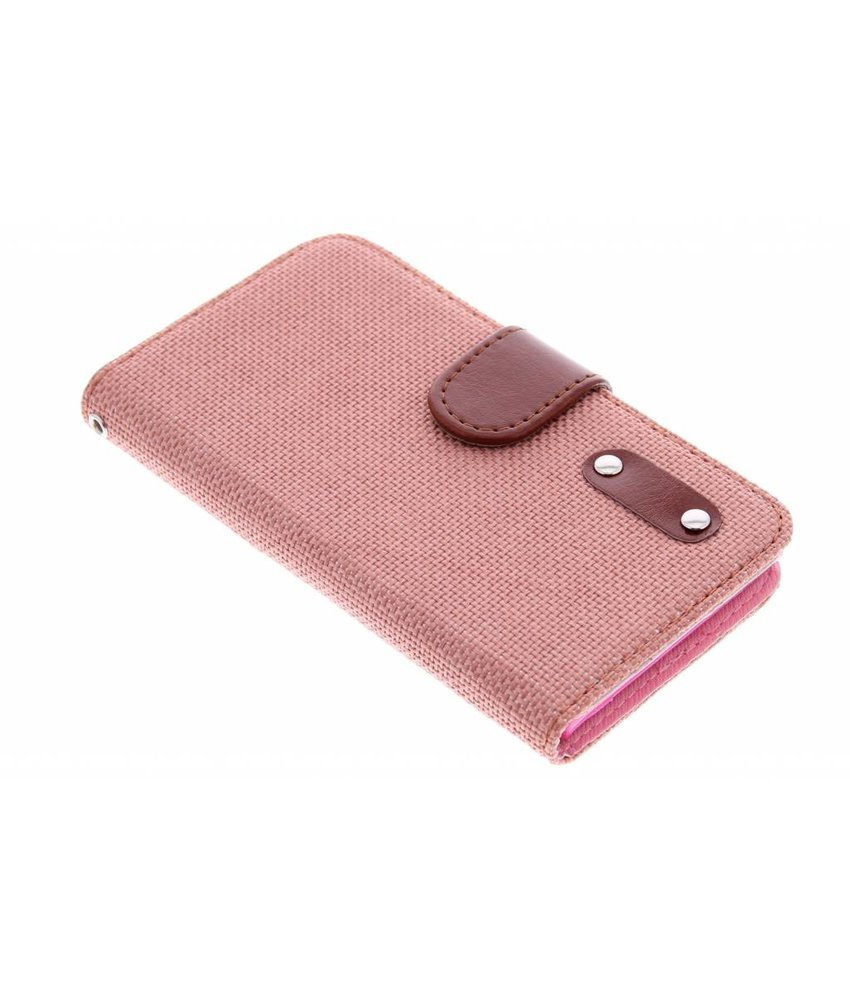 Linnen look TPU booktype hoes Huawei Ascend G6