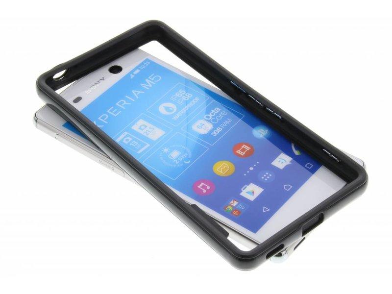 Pare-chocs Noir Pour Sony Xperia M5 IyOQtRs