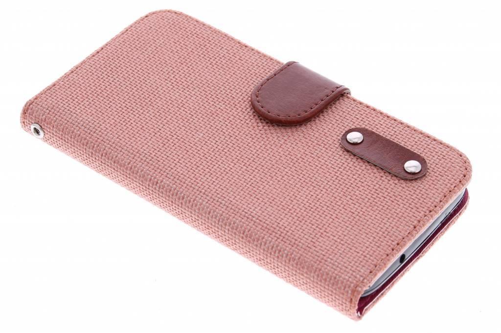 Regarder Le Saumon Rose Lin Booktype Tpu Case Pour Huawei Y625 cqdIhFT