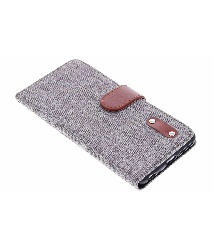 Linnen look TPU booktype hoes iPhone 6(s) Plus