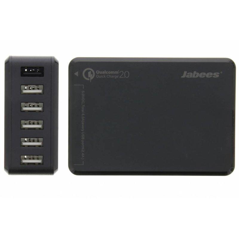 Jabees 6-Poorts Desktop USB Charging Station 10 ampère