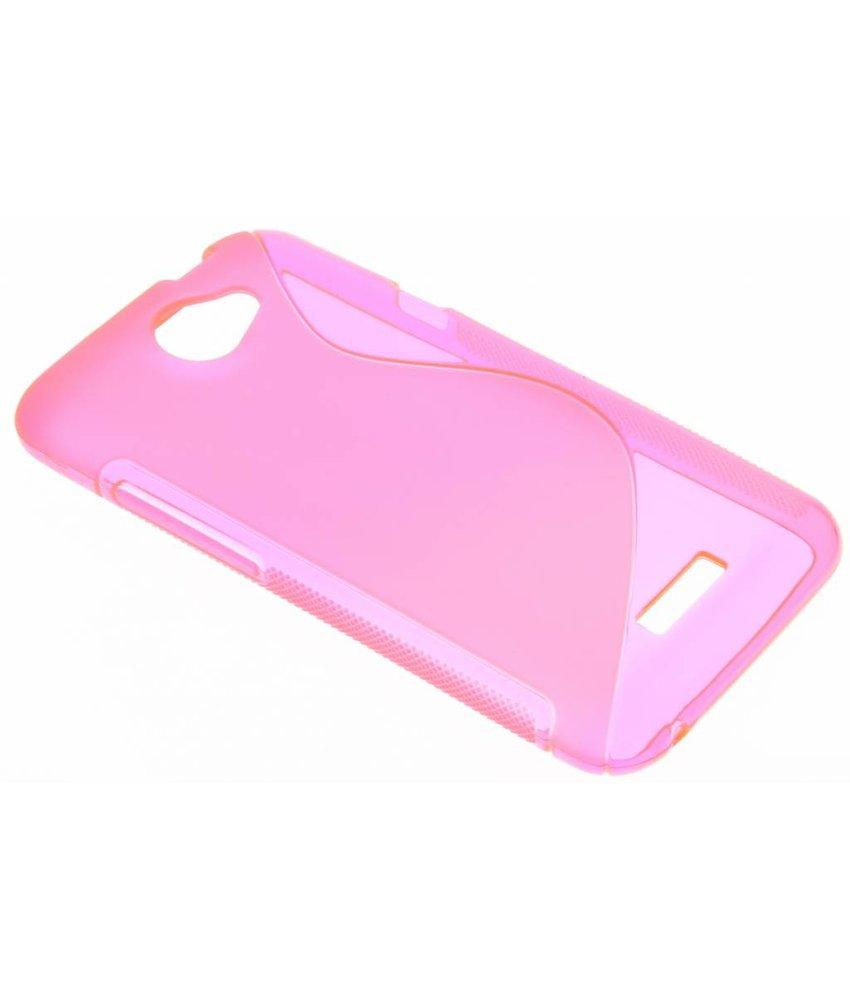 Rosé S-line TPU hoesje HTC One X (Plus)