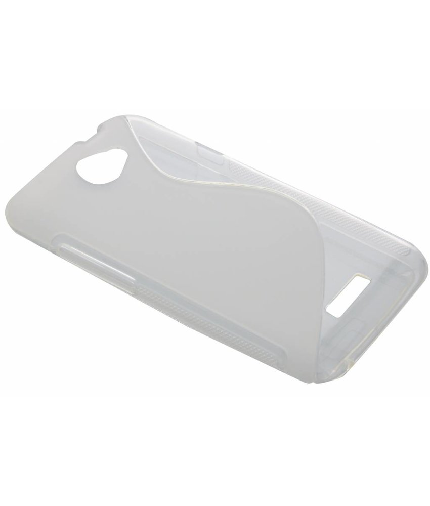 Transparant S-line TPU hoesje HTC One X (Plus)