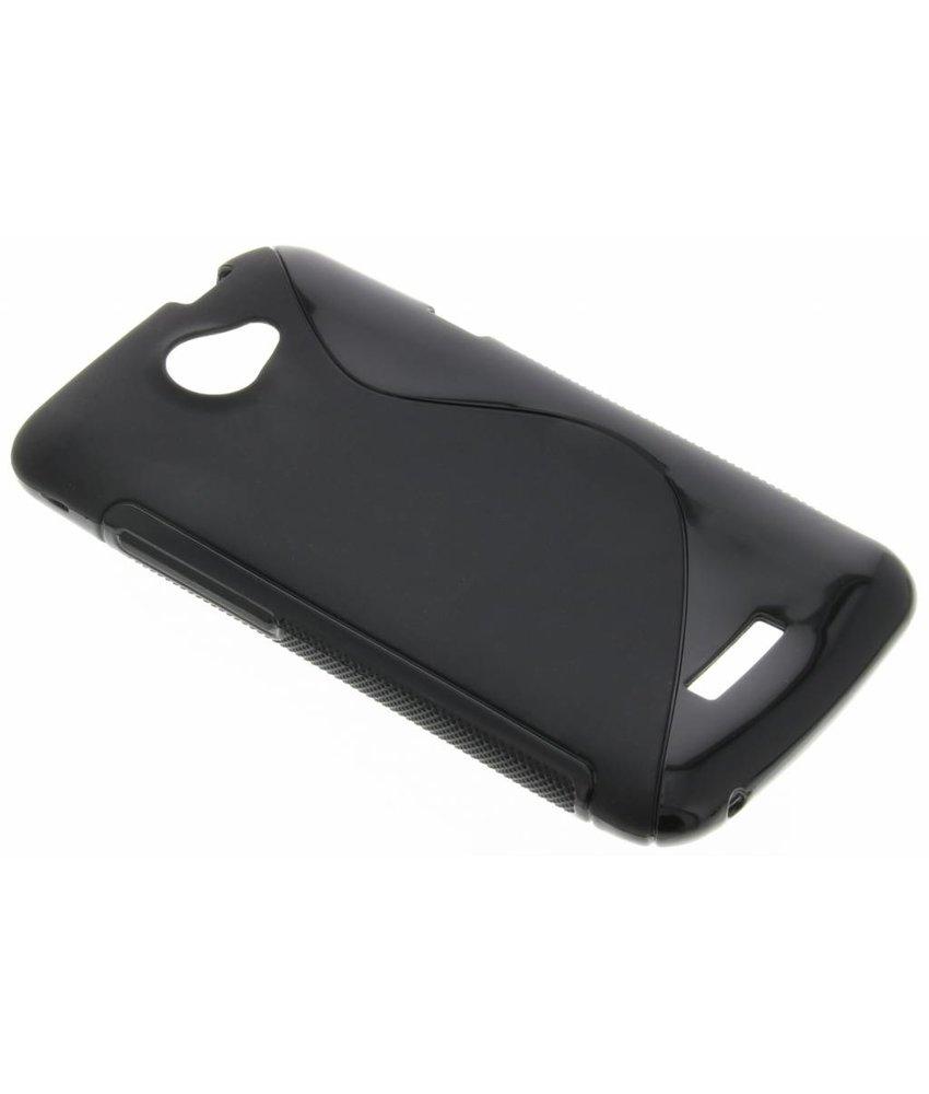 Zwart S-line TPU hoesje HTC One X (Plus)