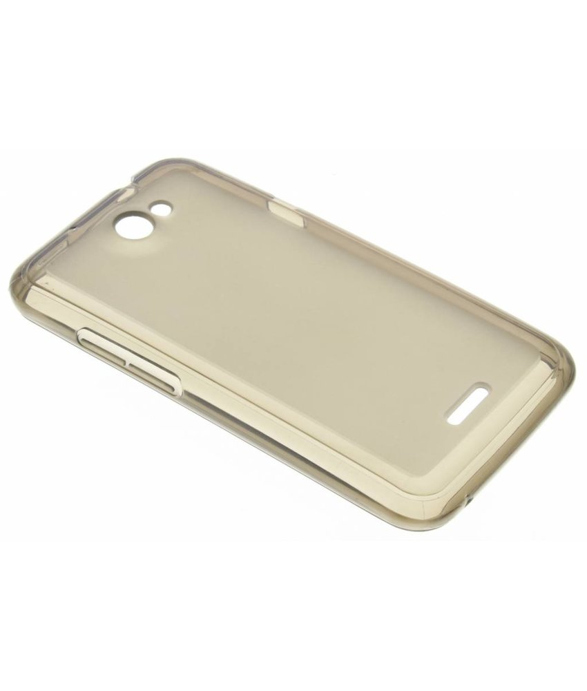 Grijs hard siliconen hoesje HTC One X (Plus)