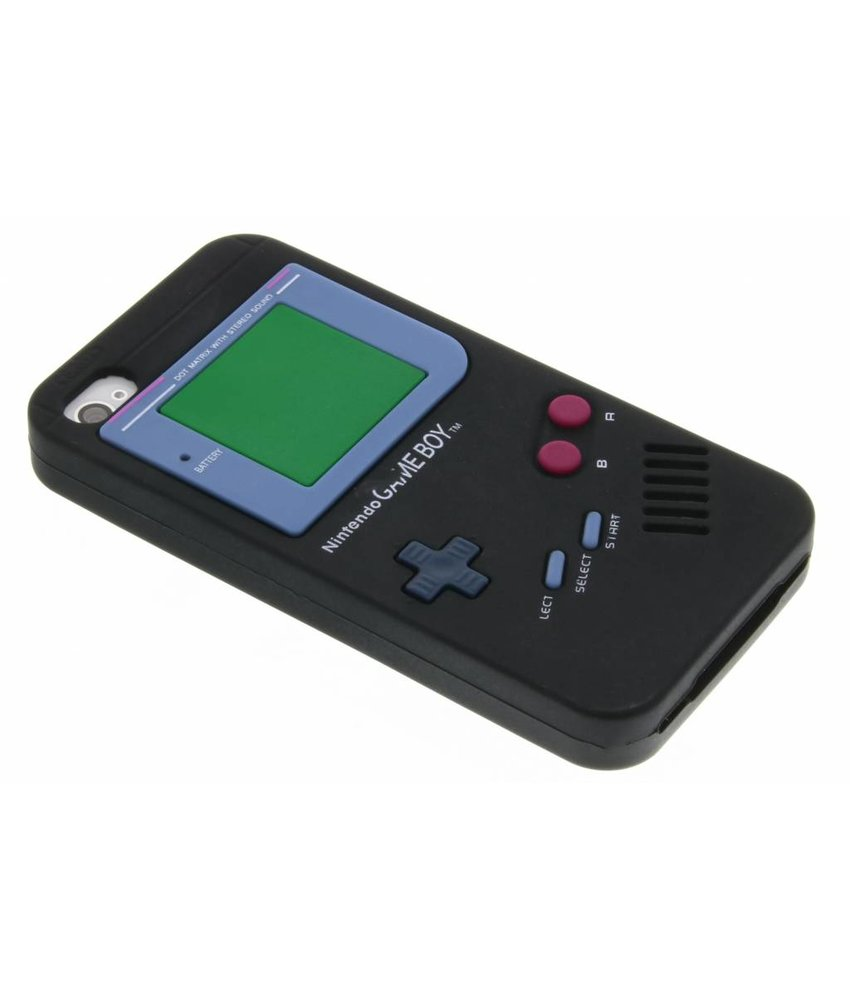 Zwart siliconen hoesje Gameboy iPhone 4 / 4s