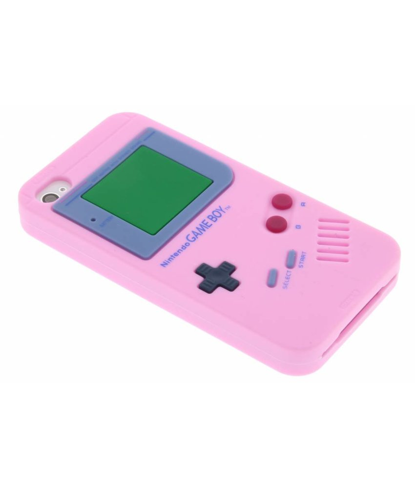 Roze siliconen hoesje Gameboy iPhone 4 / 4s
