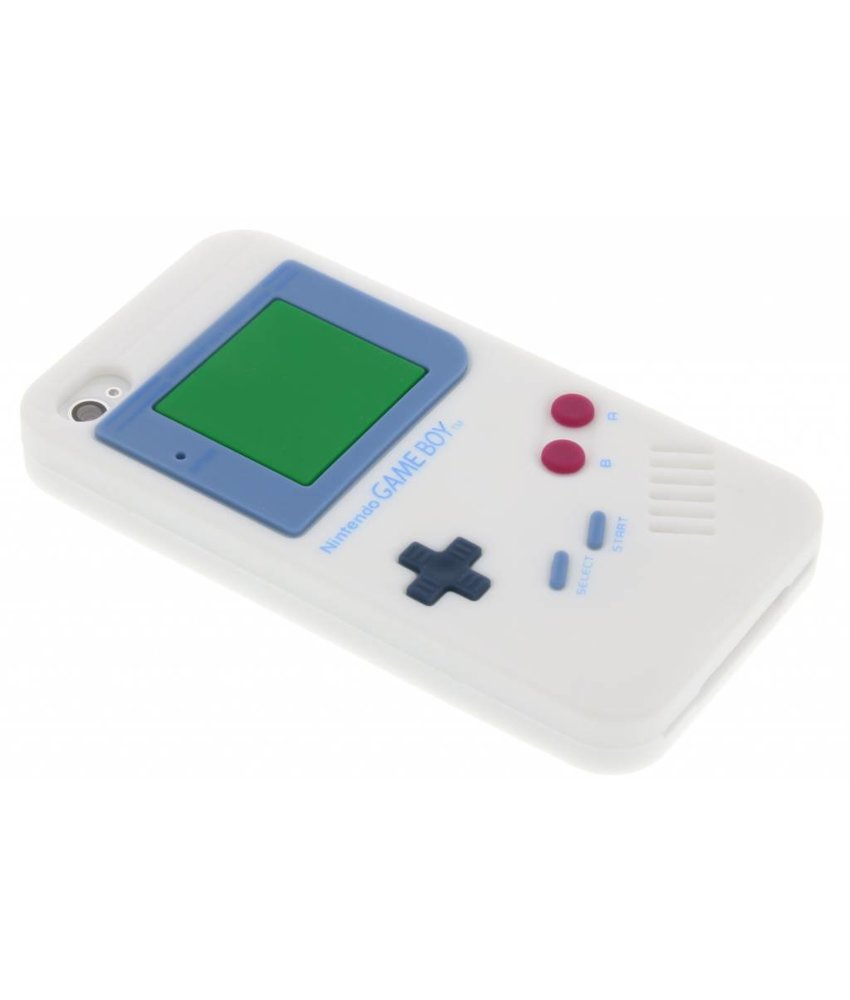 Wit siliconen hoesje Gameboy iPhone 4 / 4s