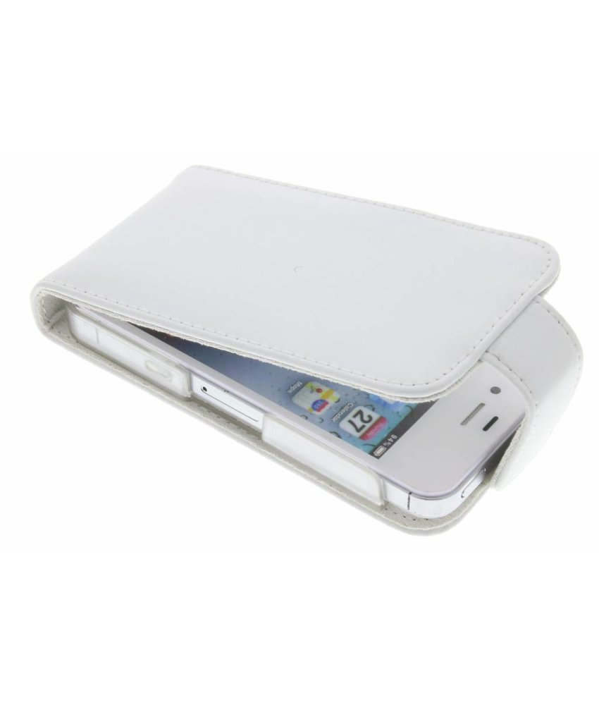 Wit stijlvolle flipcase iPhone 4(s)