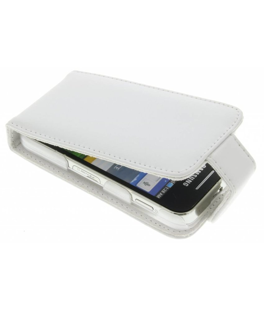 Wit stijlvolle flipcase Samsung Galaxy Ace