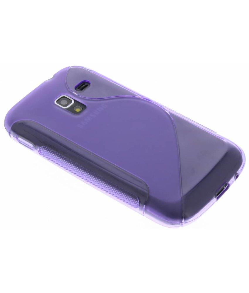 Paars S-line TPU hoesje Samsung Galaxy Ace 2