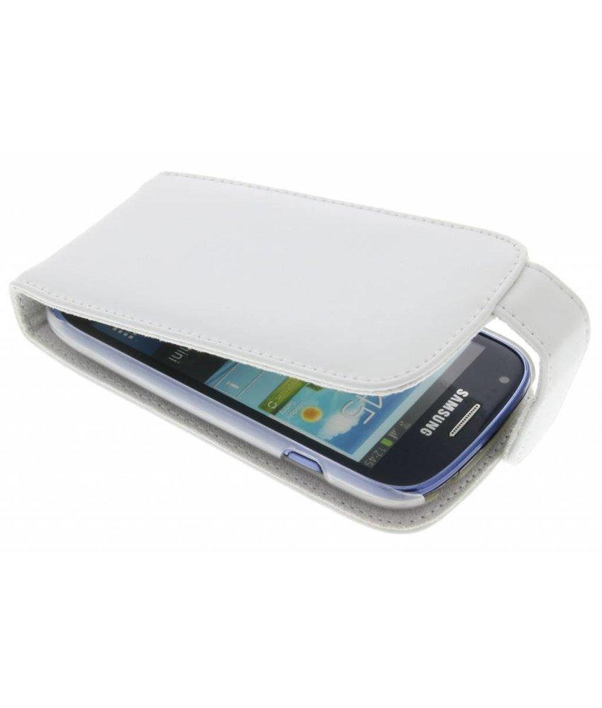 Wit stijlvolle flipcase Samsung Galaxy S3 Mini