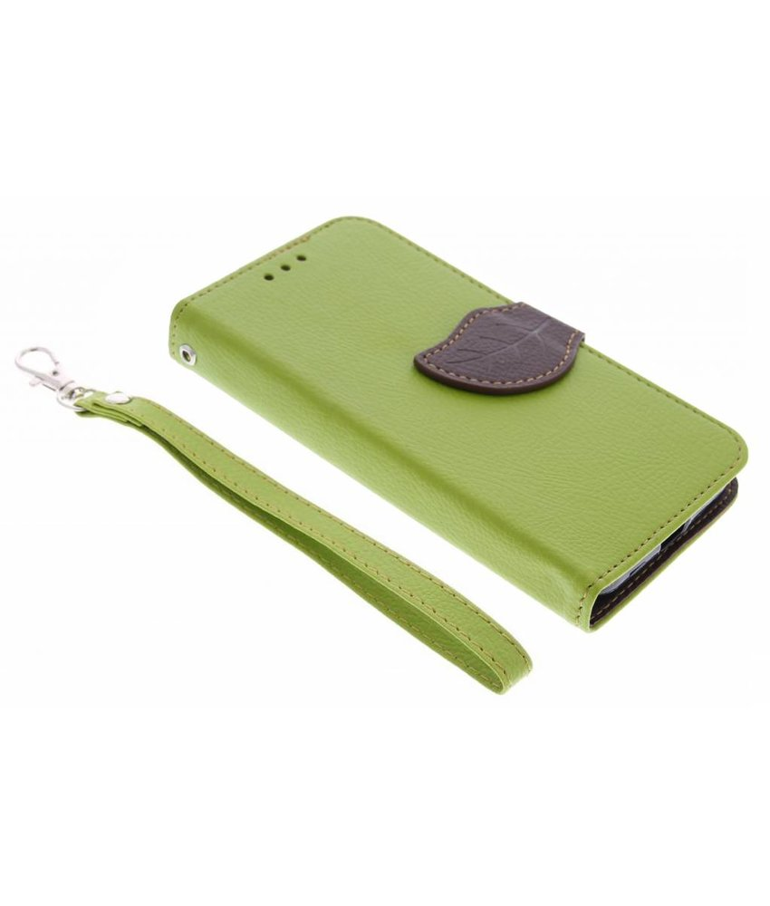 Groen blad design TPU booktype hoes Motorola Moto X