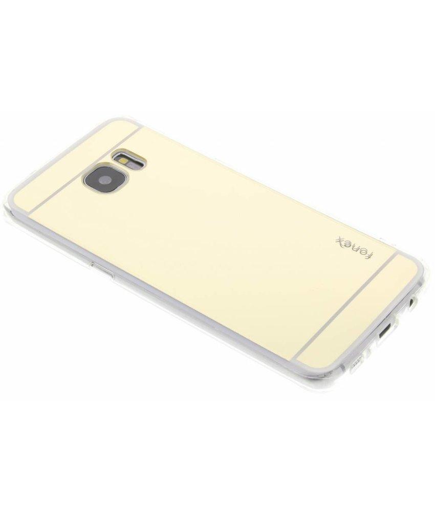 Fonex Mirror Vanity TPU Case Samsung Galaxy S7 Edge - Goud
