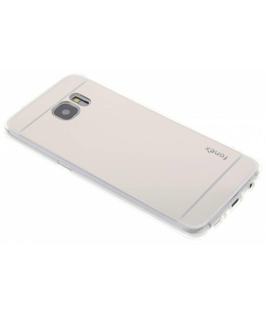Fonex Mirror Vanity TPU Case Samsung Galaxy S7 Edge - Zilver